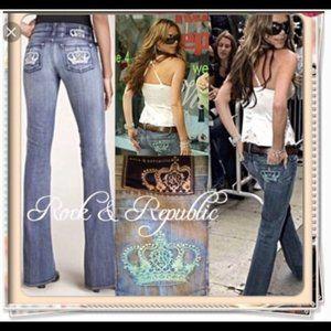 Victoria Beckham Rock & Republic Denim Flared Jean